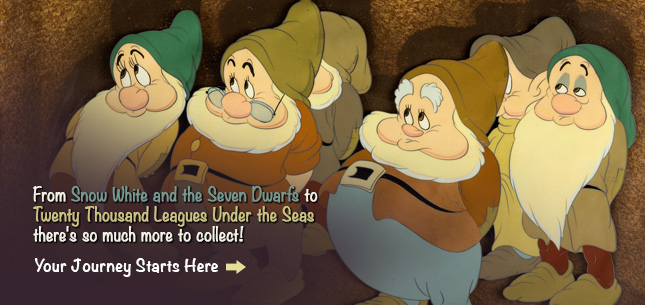 From Snow White and the Seven Dwarfs to Twenty Thousand Leagues Under the Seas, there's so much more to collect!