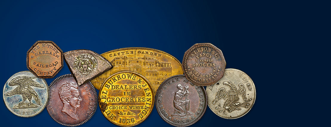 December 6 The Donald G. Partrick Collection of Hard Times and Merchant Tokens US Coins Special Monthly Auction #63161