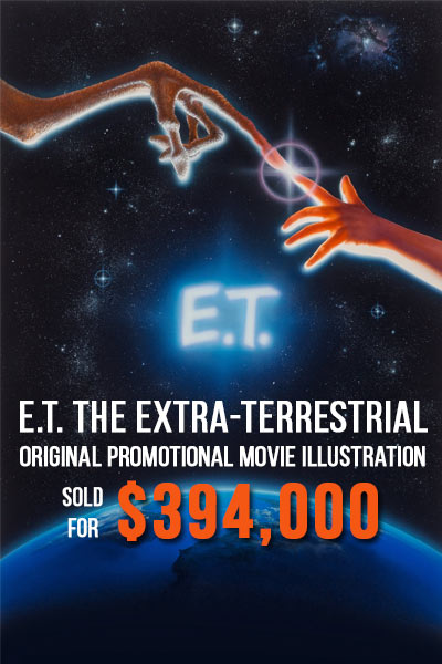 E.T. the Extra-Terrestrial, original promotional movie illustration, 1982