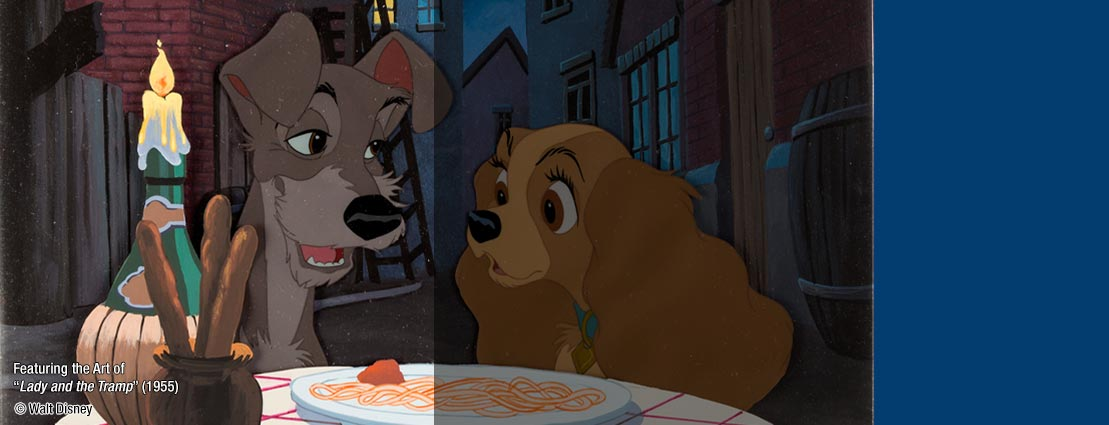 Featuring the Art of Lady and the Tramp