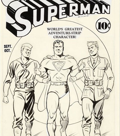 Fred Ray Superman #12 Cover Original Art (DC, 1941)