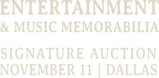 June 17 - 18 Entertainment Signature Auction - Beverly Hills #7161