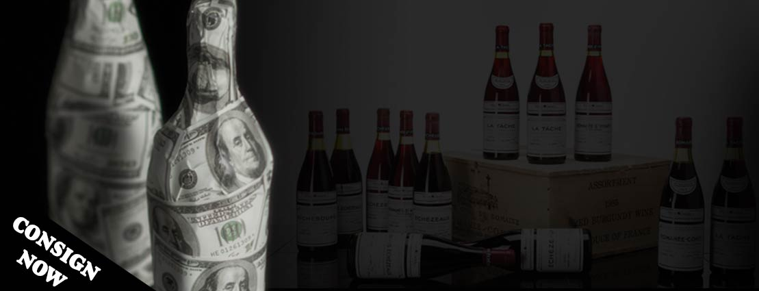 Consign  Now | Wine Bottles Wrapped with Currency