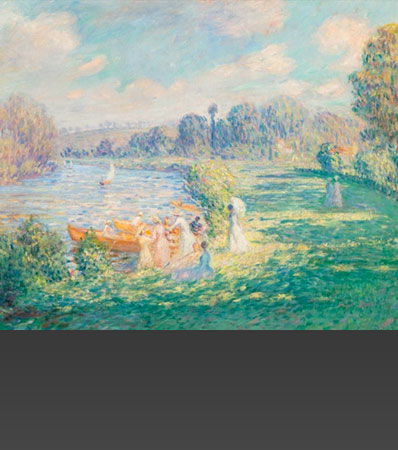 Henri Baptiste Lebasque (French, 1865-1937)Sur les bords de la Marne, 1901