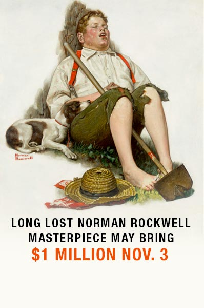 Long lost Norman Rockwell masterpiece may bring $1 million Nov. 3
