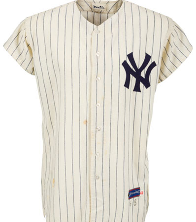 1963 Mickey Mantle Game Worn New York Yankees Jersey, MEARS A9