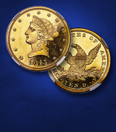 1843 Ten Dollar, PR64 Deep Cameo | Ultra-Rare 19th Century Gold Proof