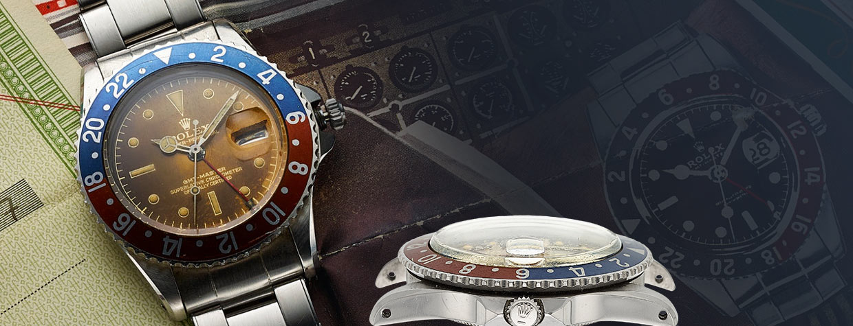 Rolex, Outstanding GMT-Master Ref. 1675, Pointed Crown Guard