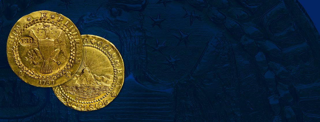 1787 New York Brasher Doubloon, MS63 Only Pre-Federal American Gold Coin, W-5840 Finest-Certified Example of This Classic Rarity The Discovery Coin, Ex: Gilmor, Newlin, Davis, Brand