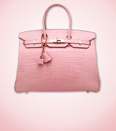 Hermes 35 cm Matte Pink 5P Alligator Birkin Bag with Palladium Hardware