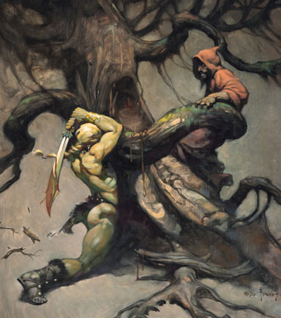 Frank Frazetta 'Tree of Death' Painting Original Art (1970)