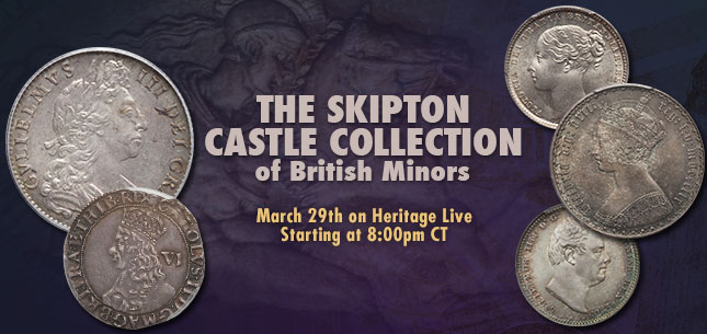 The Skipton Castle Collection of British Minors Monthly World and Ancient Coin Auction #241513