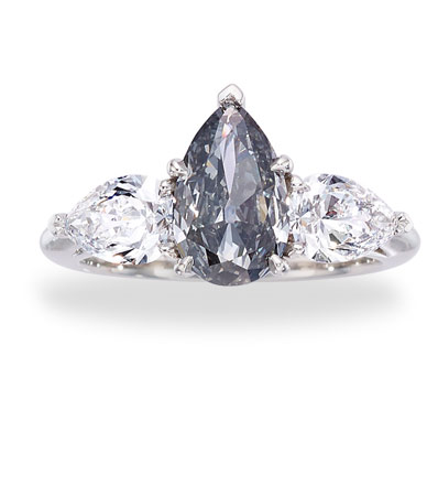 Fancy Blue-Gray Diamond, Diamond, Platinum Ring