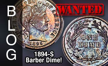 Wanted! 1894-S Barber dime!