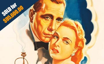 Close-up Image of the Movie Poster Casablanca