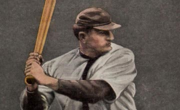 Close-up Image of 1911 Sporting Life Honus 'Hans' Wagner