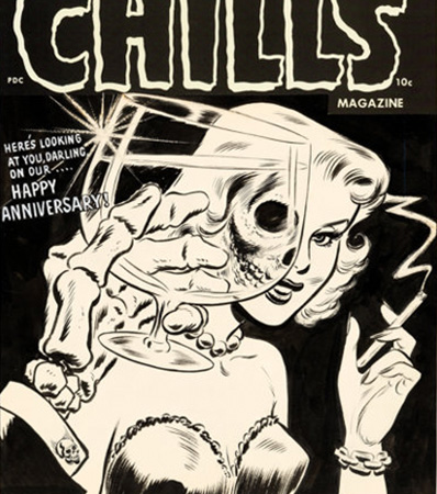 Lee Elias Chamber of Chills #19 Cover Original Art (Harvey, 1953)
