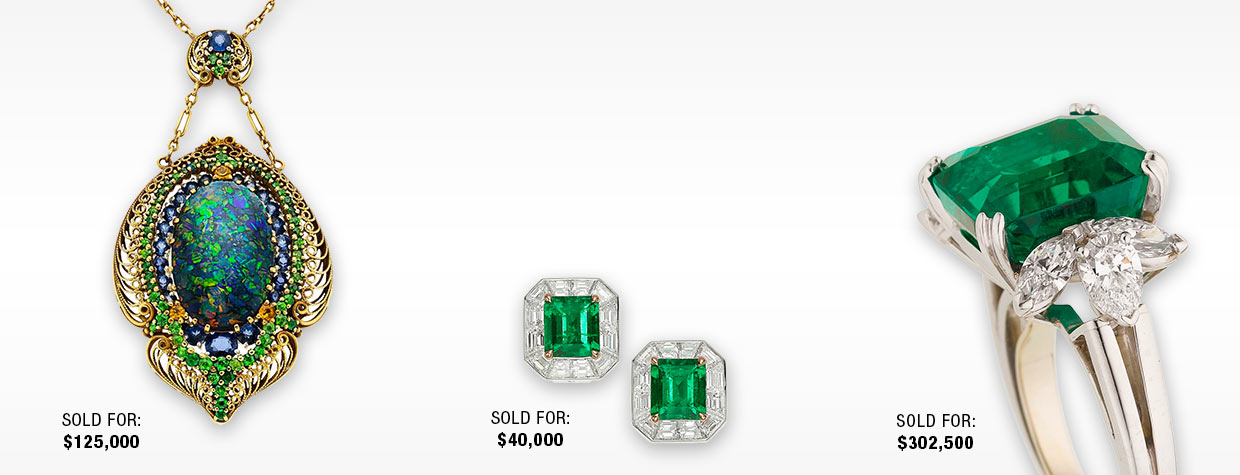 Emerald and Diamond Ring and Earrings