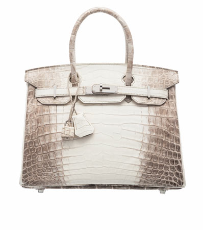 Hermes 30cm Himalayan Niloticus Crocodile Birkin Bag with Palladium Hardware. T, 2015