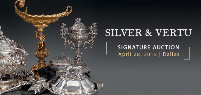 2015 April 28 Silver & Vertu Signature Auction - Dallas #5212