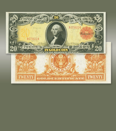 Fr. 1179 $20 1905 Gold Certificate PMG Gem Uncirculated 66 EPQ