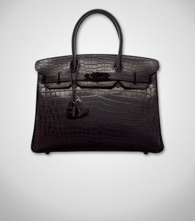 Hermes Limited Edition 30cm Matte So Black Niloticus Crocodile Birkin Bag with PVD Hardware