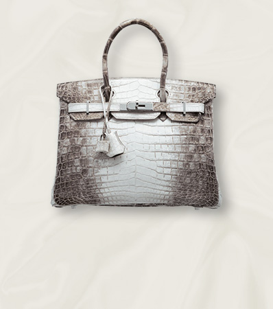 Hermès 30cm Matte White Himalayan Niloticus Crocodile Birkin Bag with Palladium Hardware