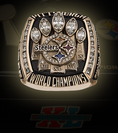 2005 Pittsburgh Steelers Super Bowl XL Championship Ring Presented to Safety Tyrone Carter