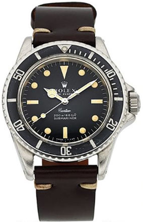 Rolex, Extremely Rare Submariner, Retailed by Cartier, Ref. 5513/0