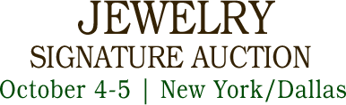 October 4 - 5 Jewelry Signature Auction - New York #5502