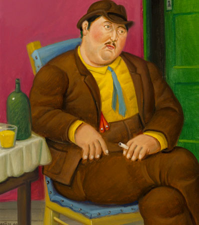 Fernando Botero Seated Man