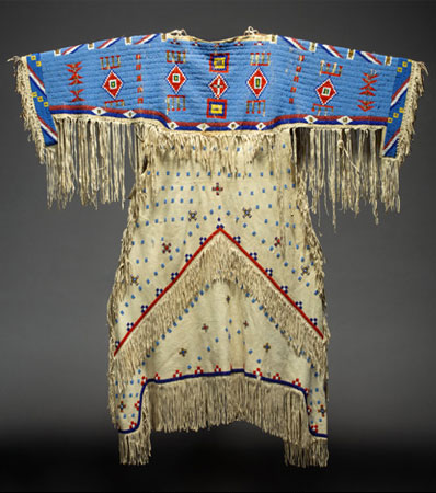 A Sioux Beaded Hide Dress, c. 1920