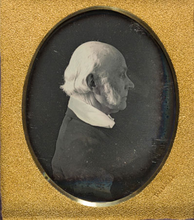 President John Quincy Adams: A Highly Important From-life Quarter Plate Daguerreotype Image