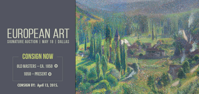 2015 June 19 European Art Signature Auction - Dallas #5217