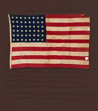 D-Day Landed Camp Flag from the 29th Infantry Division -- Omaha Beach from V Corp Commander Gen. Gerow