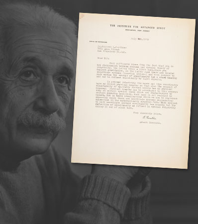 Albert Einstein Typed Letter Signed