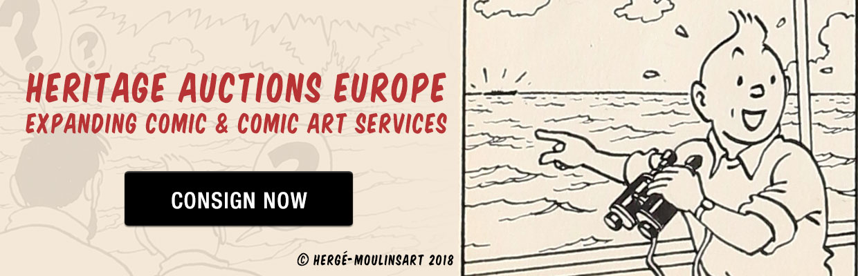 Heritage Auctions Europe Expanding Comic & Comic Art Services