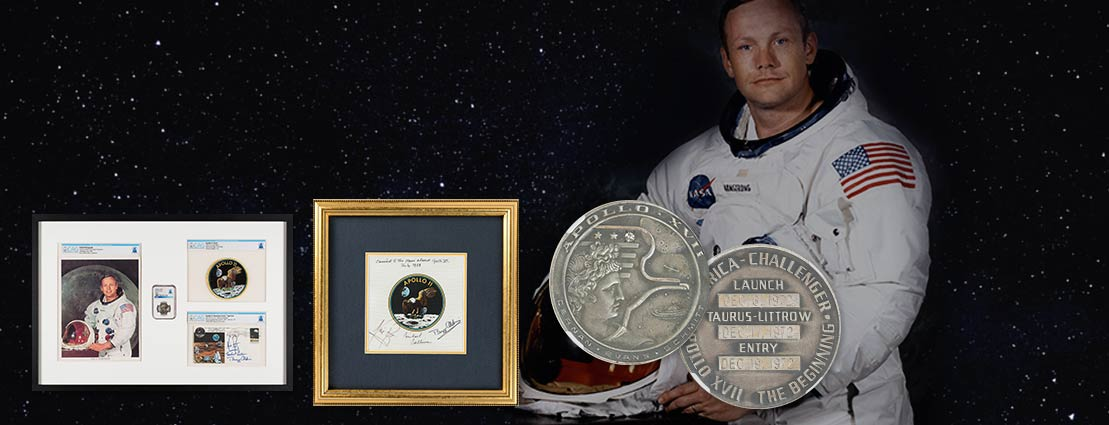 Apollo 11: Deluxe Framed Presentation including a Flown Silver Robbins Medallion