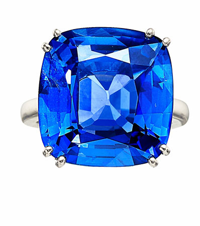 Sapphire, Diamond, Platinum Earrings, Van Cleef & Arpels