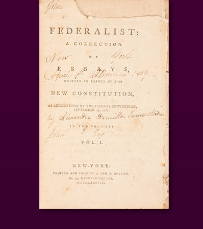 Alexander Hamilton, James Madison, and John Jay | The Federalist