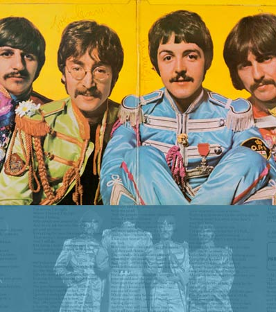 Beatles Signed Sgt. Pepper's Lonely Hearts Club Band First Pressing Gatefold LP Sleeve (UK - Parlophone PMC 7027, 1967)