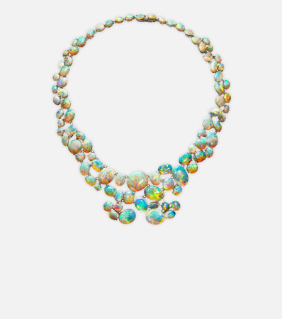 Opal, Platinum Convertible Necklace, Karin Stirnemann