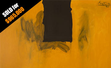 Close-up Image of Robert Motherwell's Untitled