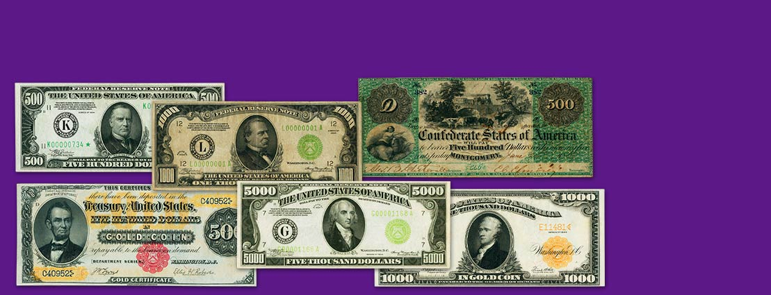 Featured  US Currency Notes
