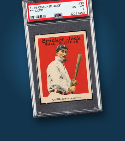 1915 Cracker Jack Ty Cobb #30 PSA NM-MT 8