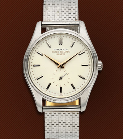 Patek Philippe, Ref. 2526P, Highly Important And Rare Calatrava with First Series Enamel Dial, Retailed by 'Tiffany & Co', Circa 1954