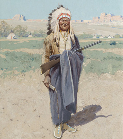 Henry Farny (American, 1847-1916), Indian Chief