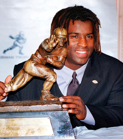 1998 Heisman Memorial Trophy Presented to University of Texas Longhorns Running Back Ricky Williams