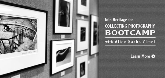 Join Heritage for COLLECTING PHOTOGRAPHY BOOTCAMP with Alice Sachs Zimet