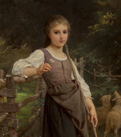 Emile Munier (French, 1810-1895)The shepherdess, 1888